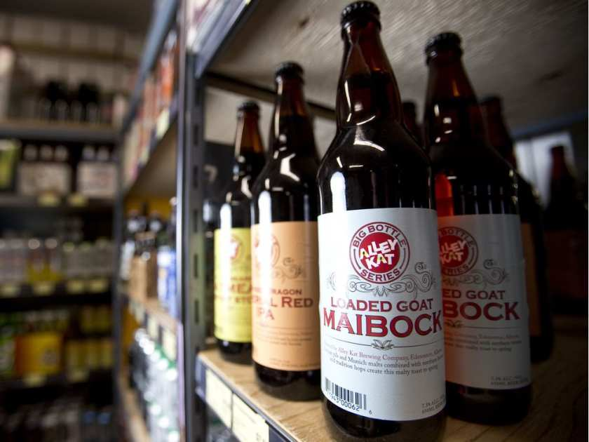 Edmonton craft beers  are available for the first time at the Calgary Stampede.